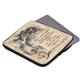 Alice im Wunderland; Cheshire-Katze mit Alice Laptop Schutzhüllen
