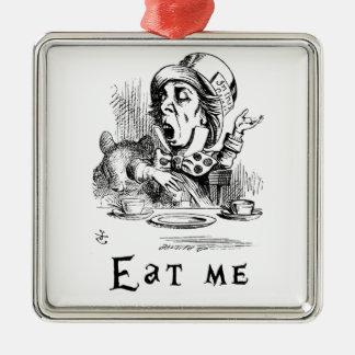 Alice im Wunderland - essen Sie mich Silbernes Ornament