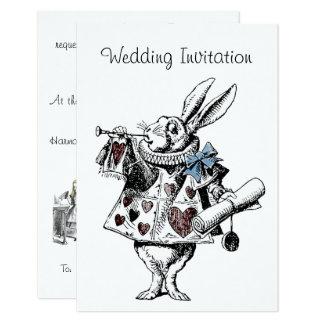 Alice im Wunderland-Hochzeits-Einladungs-Karte 8,9 X 12,7 Cm Einladungskarte
