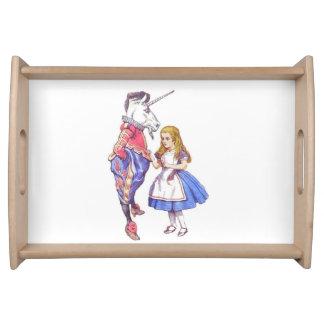 Alice im Wunderland-Serviertablett Serviertablett