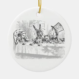 Alice im Wunderland-Tee-Party-Verzierung Keramik Ornament
