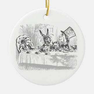 Alice im Wunderland-Tee-Party-Verzierung Rundes Keramik Ornament