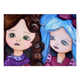 Alice im Wunderland u. ihr kleine Schwester-Zacken Karte