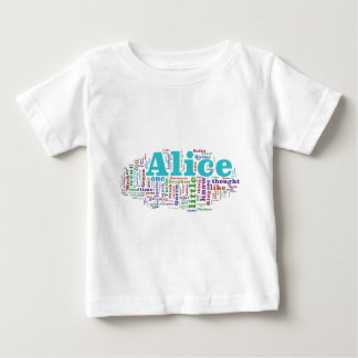 Alice im Wunderland-Wort-Wolke Baby T-shirt