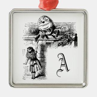 Alice in Wondlerand, Humpty Dumpty mit Alice Silbernes Ornament