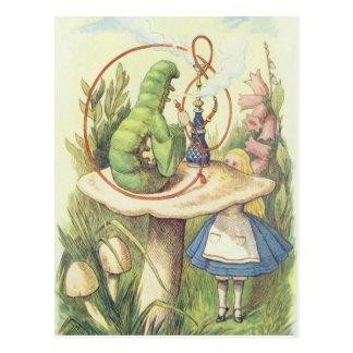 Alice trifft die Raupe Postkarte