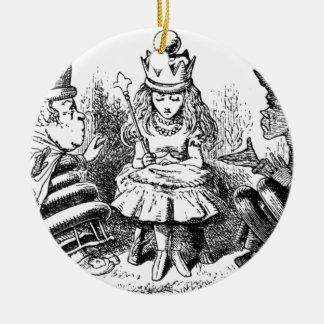 Alice und das Queens Rundes Keramik Ornament