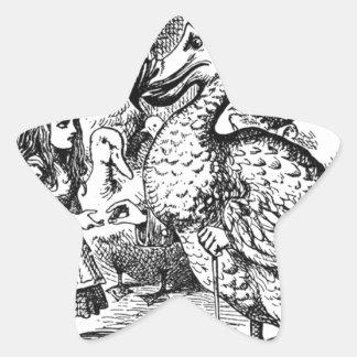 Alice und der Dodo Stern-Aufkleber