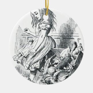 Alice und die Eichhörnchen Rundes Keramik Ornament