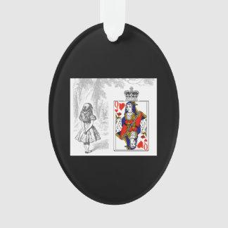 Alice und die Königin der Herz-Verzierung Ornament
