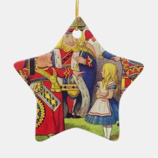 Alice und die Königin der Herzen Keramik Stern-Ornament