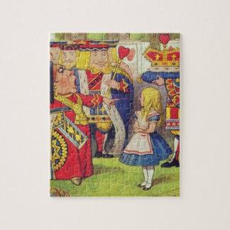 Alice und die Königin der Herzen Puzzle