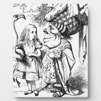 Alice und die rote Königin Fotoplatte