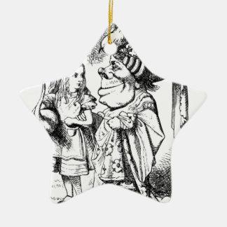 Alice und die rote Königin Keramik Stern-Ornament