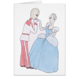 Alien Aschenputtel und Prinz Bezaubern Karte