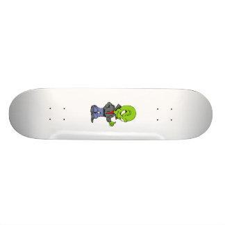 Alien in den schwarzen Daumen der ledernen Jacke o 18,4 Cm Mini Skateboard Deck