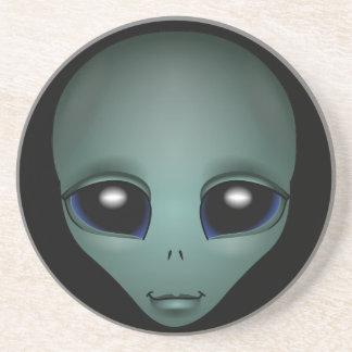 Alien-Kunst-Untersetzer-außerirdische Geschenke u. Sandstein Untersetzer