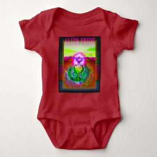 Alien-Stolz-schöner magentaroter Entwurf Baby Strampler