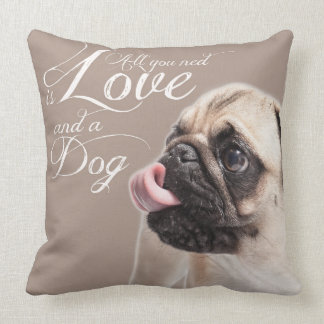 All you ned is Love and a Dog Kissen