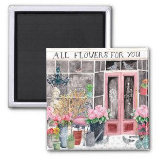 Alle Blumen für Sie   Magnet Quadratischer Magnet
