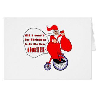 Alle, die ich für Weihnachten will Grußkarte