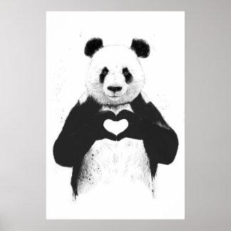 Alle, die Sie benötigen, ist Liebe Poster