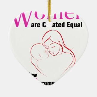 Alle Frauen sind geschaffenes Gleichgestelltes, Keramik Ornament