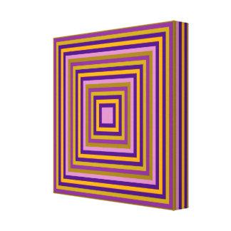 Alle quadrieren Mehrfarben Galerie Gefaltete Leinwand