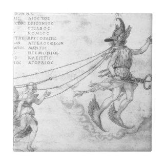 Allegorie der Beredsamkeit durch Albrecht Durer Fliese
