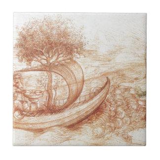 Allegorie durch Leonardo da Vinci Keramikfliese