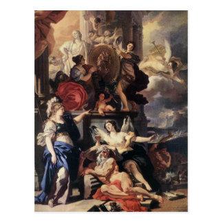 Allegorie einer Herrschaft durch Francesco Postkarte