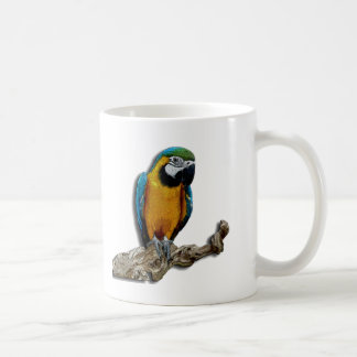 AlleinTasse des orange Papageien Tasse