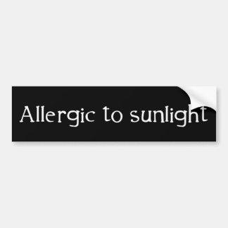 Allergisch zum Sonnenlicht Autoaufkleber