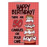 Alles Gute zum Geburtstag - 50 Jahre alt Grußkarte