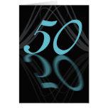 Alles Gute zum Geburtstag 50 stilvoll, Spiegel 50, Grußkarte