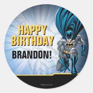 Alles Gute zum Geburtstag Batmans | Runder Aufkleber