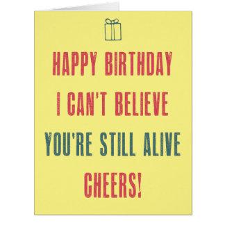 Alles Gute zum Geburtstag! Ich kann nicht glauben, Riesige Grußkarte