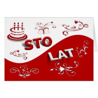 Herzlichen Glückwunsch Und Alles Gute Zum Geburtstag Polnisch