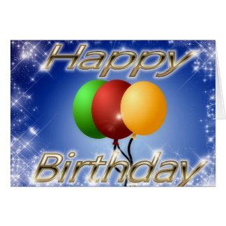 Alles Gute zum Geburtstag - Karte mit Ballonen und