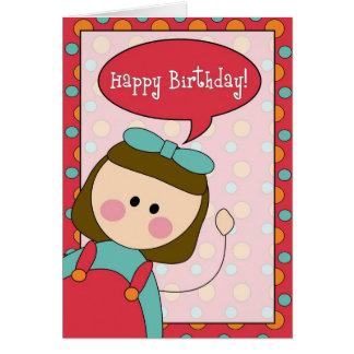 alles Gute zum Geburtstag (Mädchen) Grußkarte