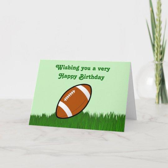 Alles Gute Zum Geburtstag Mit Fussball Auf Gras Karte Zazzle At