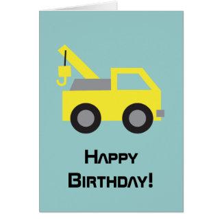 Alles Gute zum Geburtstag, niedliches gelbes Grußkarte