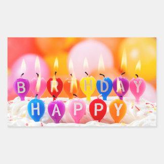 Alles Gute zum Geburtstag Rechteckiger Aufkleber