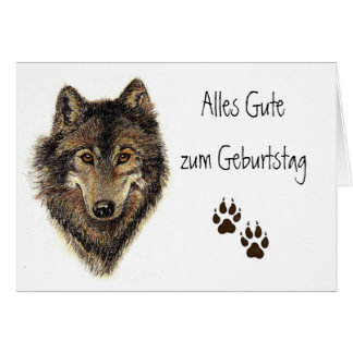 Alles Gute zum Geburtstag, Wolf, Wölfe, Tier Grußkarte
