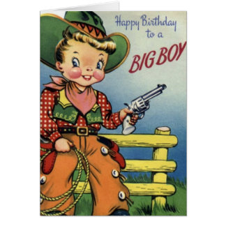 Alles Gute zum Geburtstag zu einem großen Jungen Grußkarte