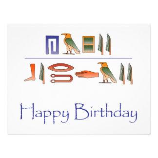 Alles- Gute zum Geburtstagägyptische Flyer