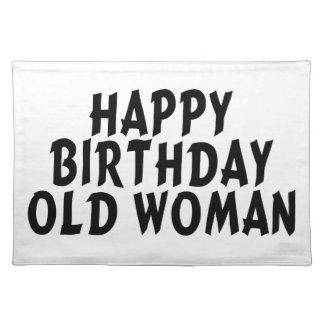 Alles- Gute zum Geburtstagalte Frau Tischset