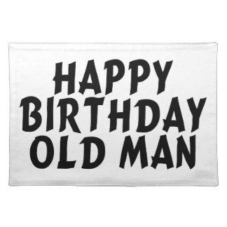 Alles- Gute zum Geburtstagalter Mann Stofftischset