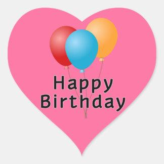 Alles- Gute zum Geburtstagballone Herz-Aufkleber