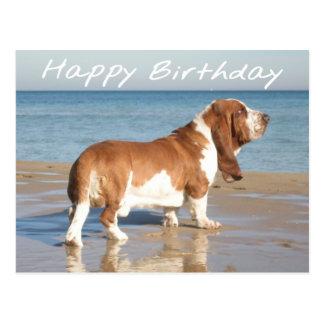 Alles- Gute zum GeburtstagBasset Postkarte
